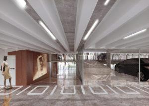 Binnenkant parking